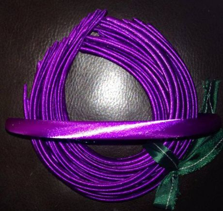 10MM SATIN COVERED HEADBAND IN DARK PURPLE